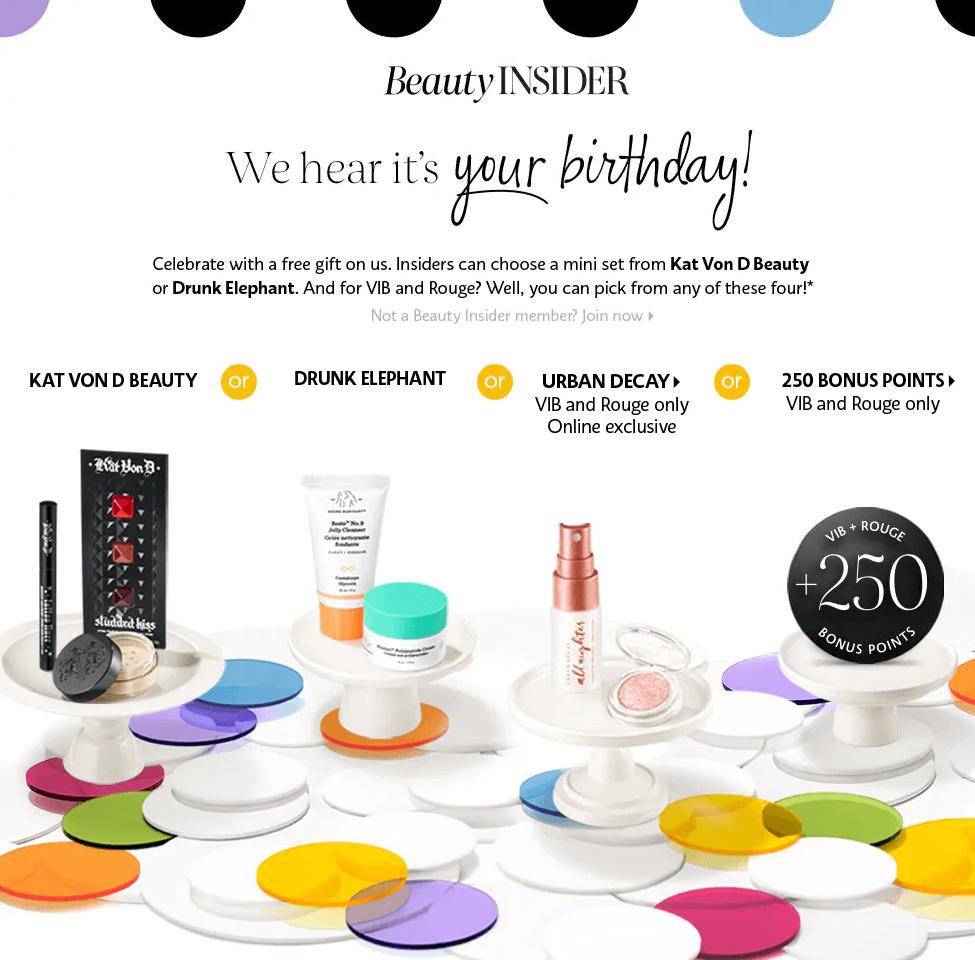 sephora birthday gift 2019 free