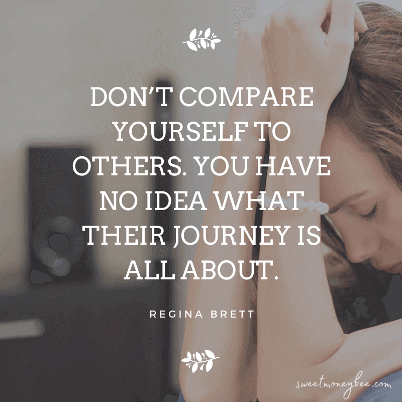 stop living paycheck to paycheck comparing yourself to others quotes