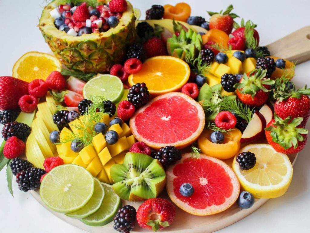 healthy grocery list fruits
