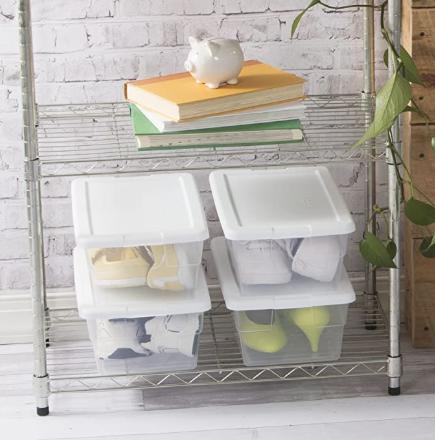 shoe organizer for closet by sterilite