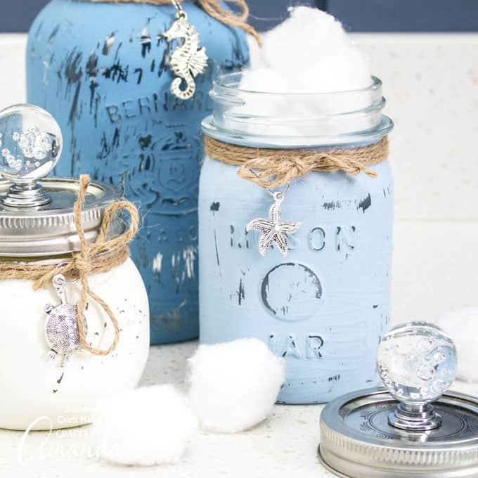 mason jar crafts beach can