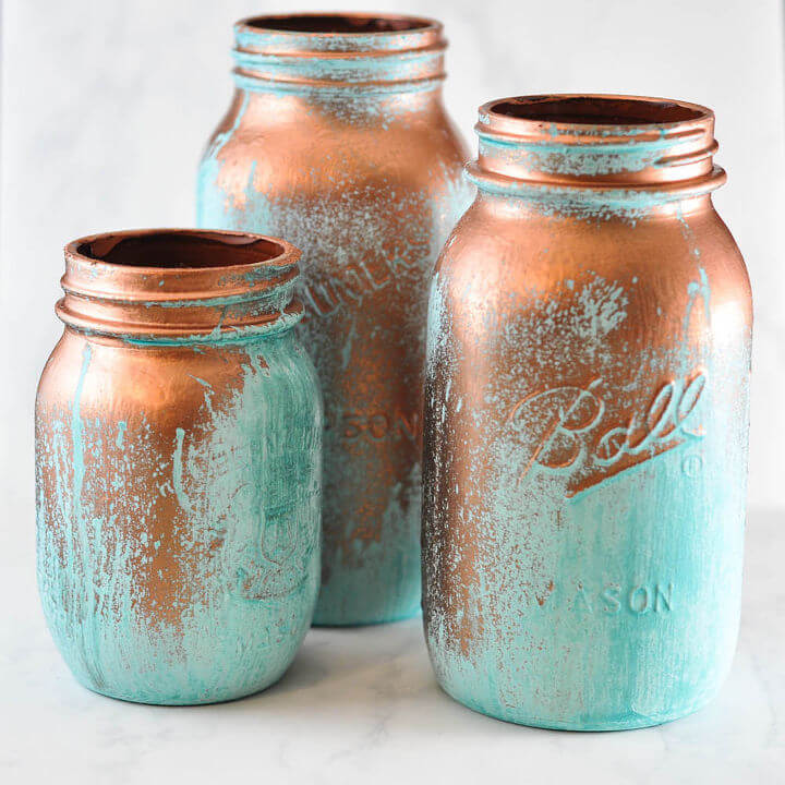 mason jar crafts distressed