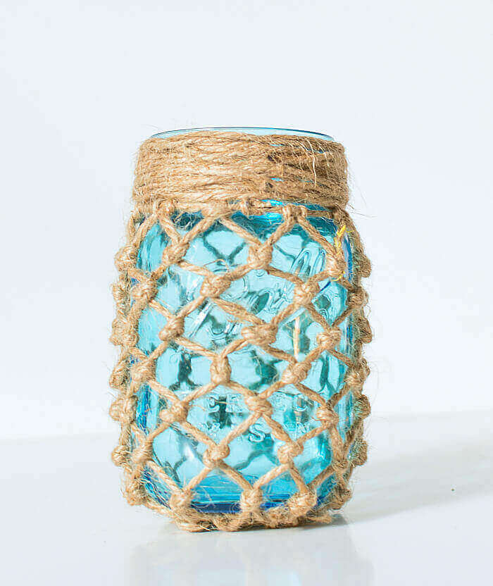 mason jar crafts fishnet