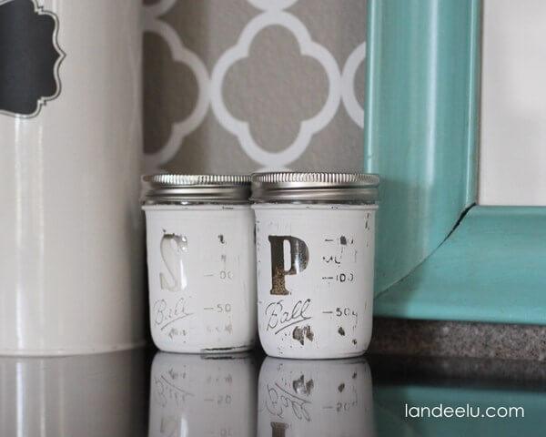 mason jar crafts salt and pepper
