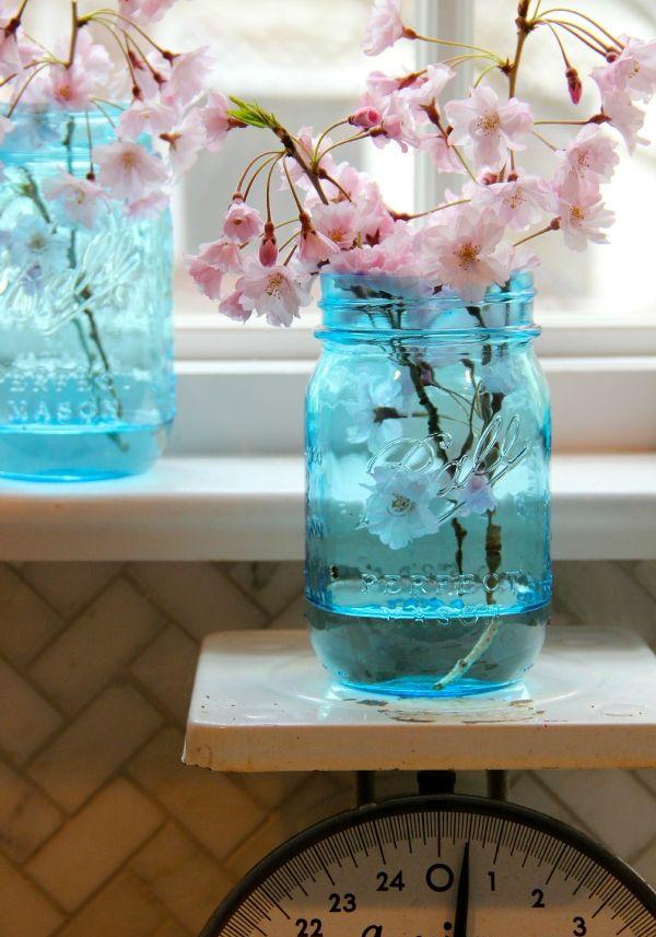 mason jar crafts tinted