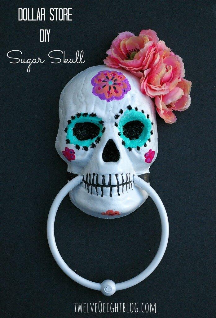 diy halloween decorations - Skull door knob