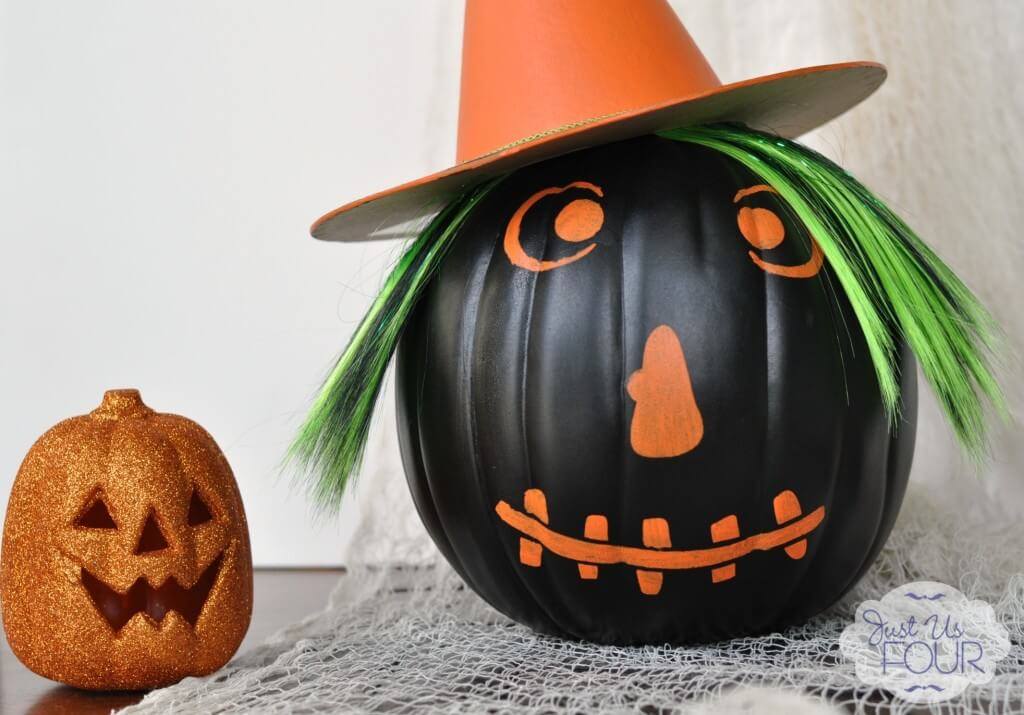 diy halloween decorations - faux pumpkin