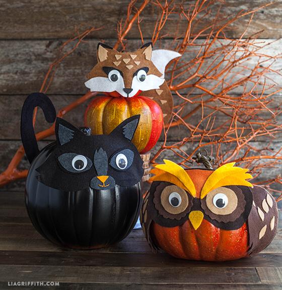 diy halloween decorations - felt pumpkins