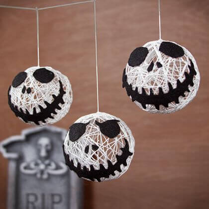 diy halloween decorations - skellington halloween string