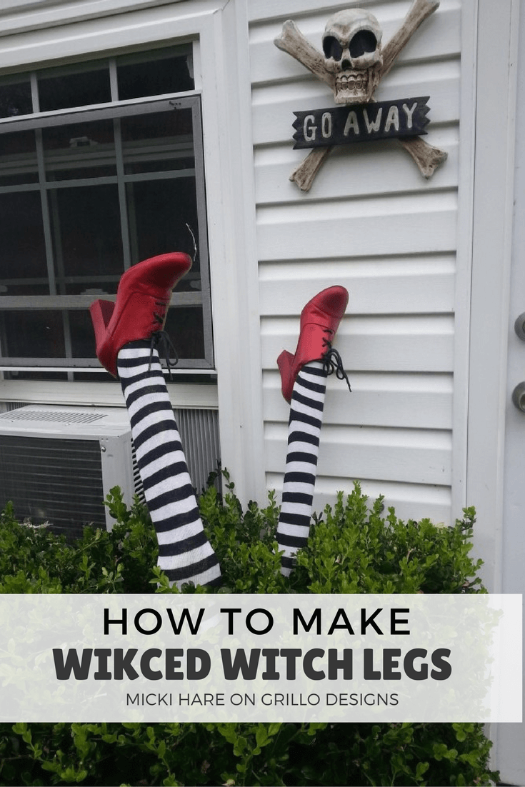 diy halloween decorations - wicked witch legs
