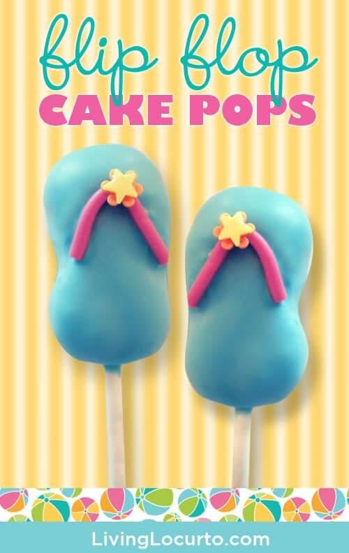 cake pops flip flop