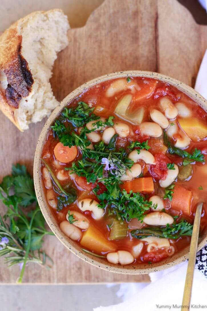 instant pot vegetable minestrone soup