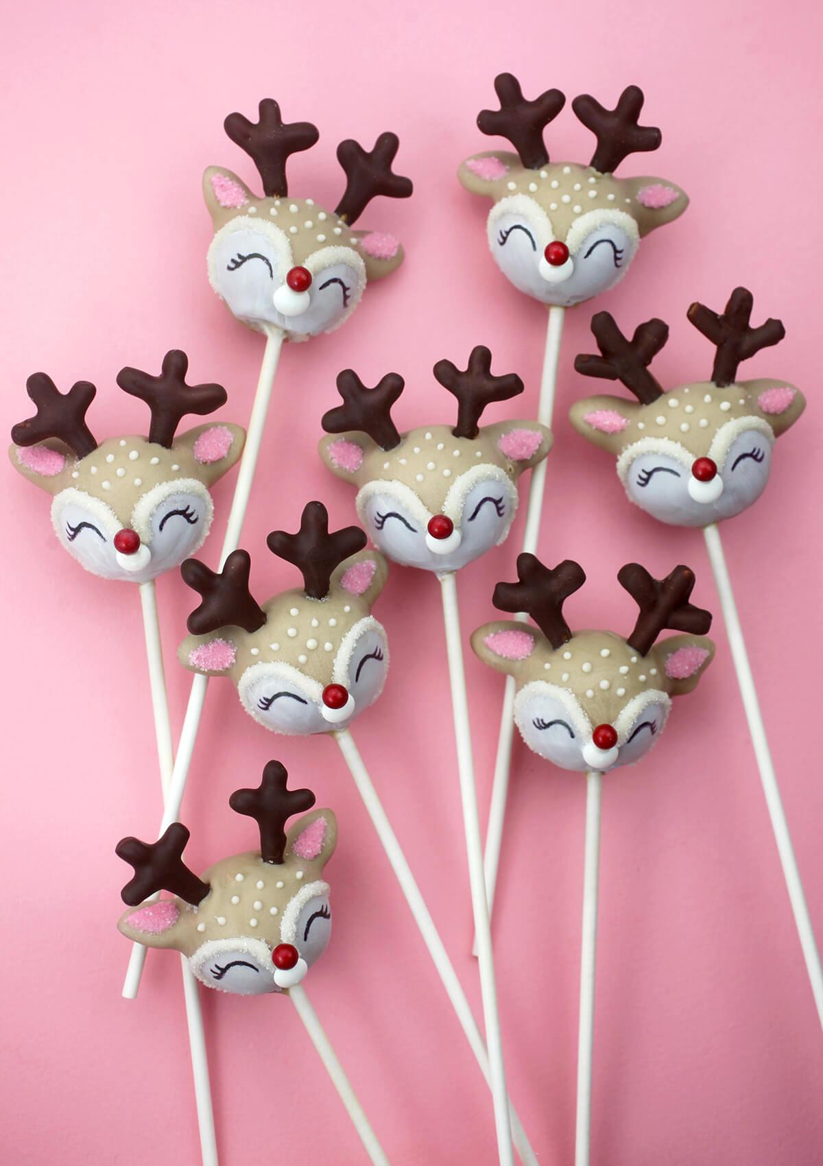 cake pops reindeer