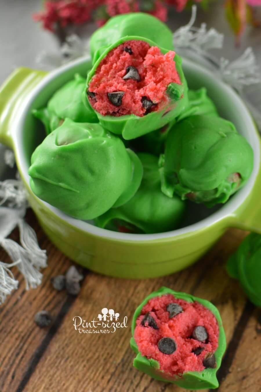 cake pops watermelon