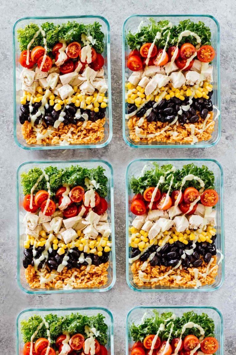 Healthy-meal-prep-chicken-burrito-bowls