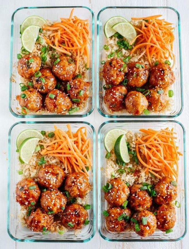 healthy-meal-prep-sriracha-meatballs