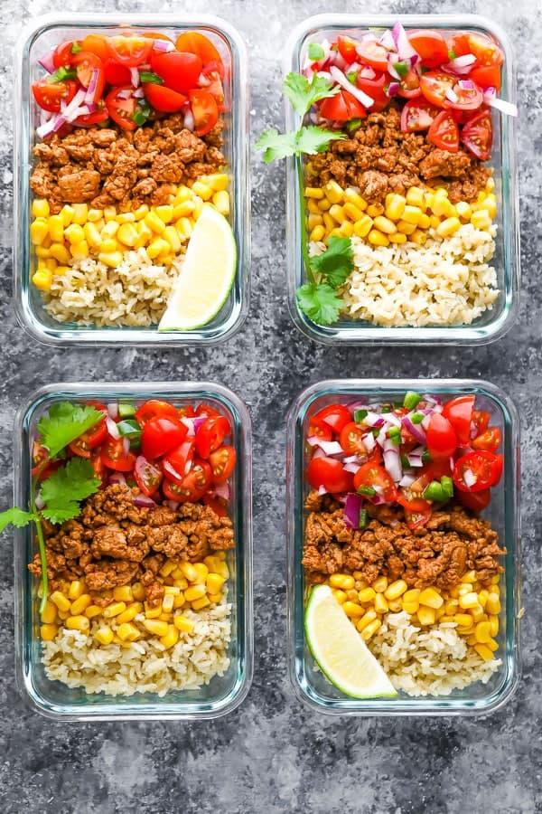 easy-meal-prep-ideas-turkey-taco-bowls