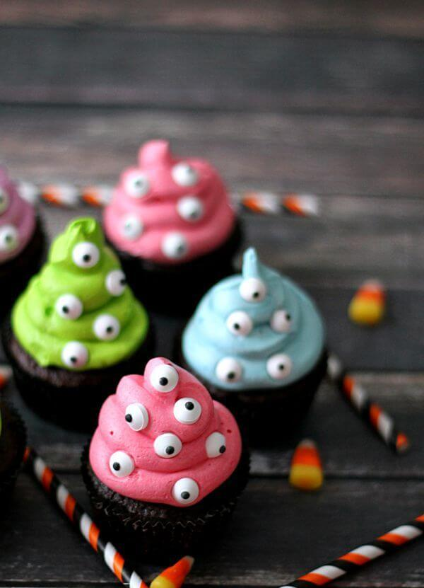 cutest halloween desserts cupcakes monster