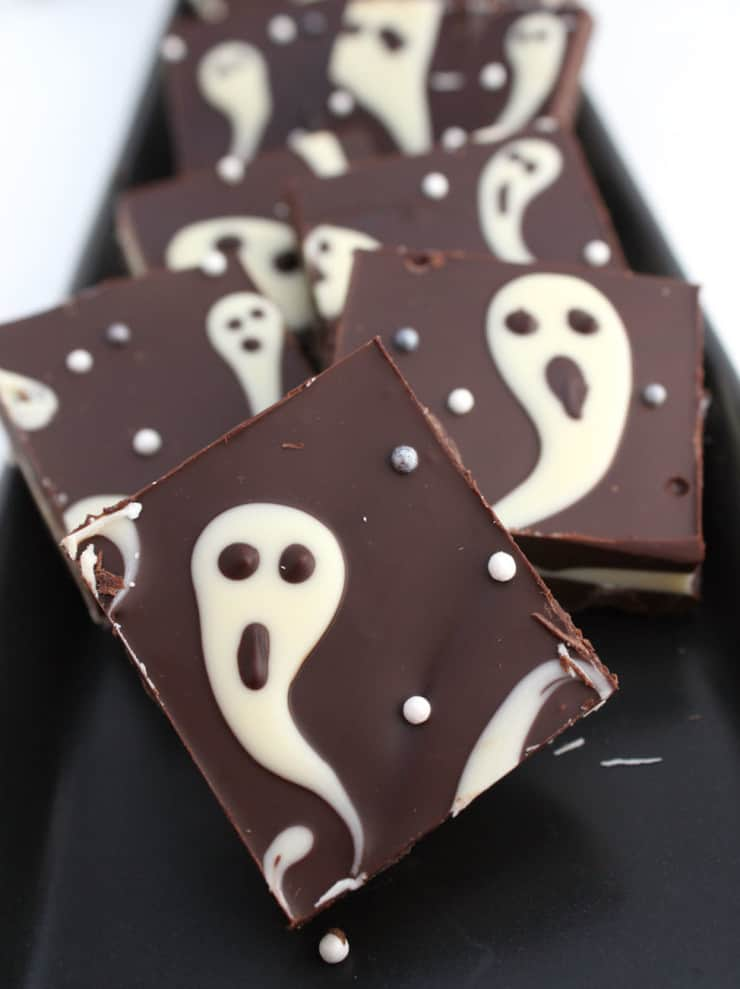 easy halloween desserts ghost bark