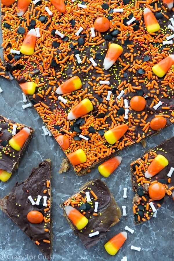 halloween desserts easy chocolate bark