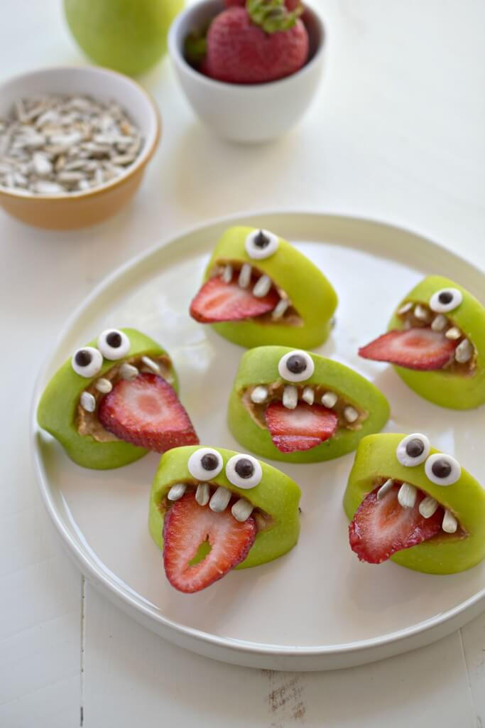 healthy halloween desserts that are easy to make apple bites
