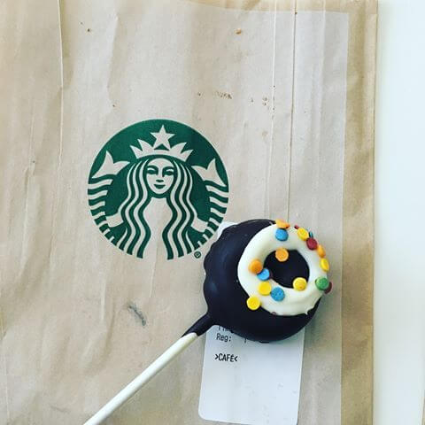 Frosted Donut Cake Pop From Starbucks