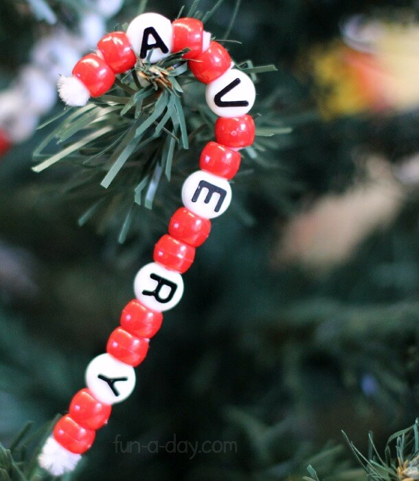 beaded candy cane kids crafts christmas