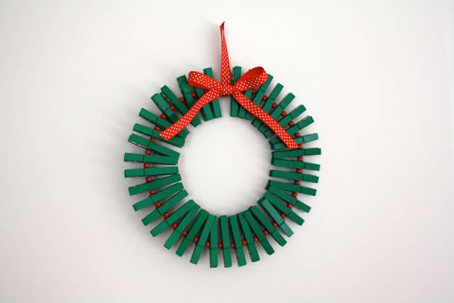 christmas craft wreath