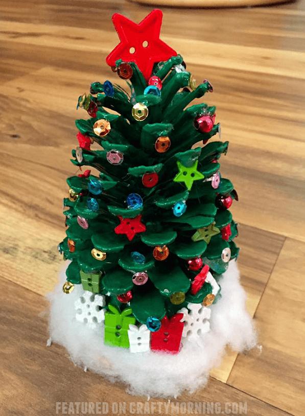 decorate pinecone christmas tree crafts