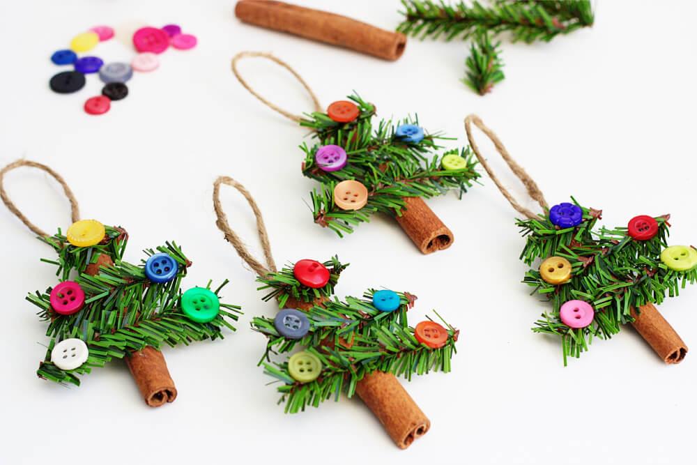 diy christmas crafts cinnamon stick tree ornaments