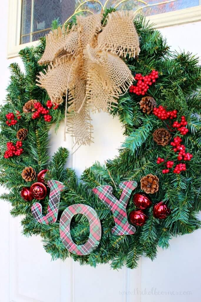 diy christmas wreath joy dollar tree