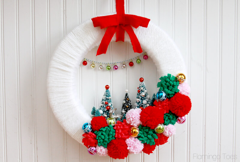 diy christmas wreath vintage winter wonderland