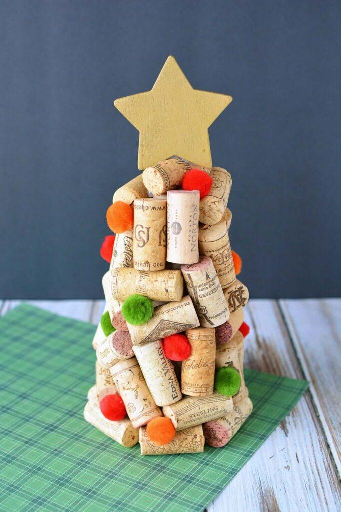diy dollar tree christmas tree wine cork