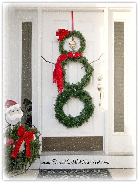 diy dollar tree christmas wreath snowman