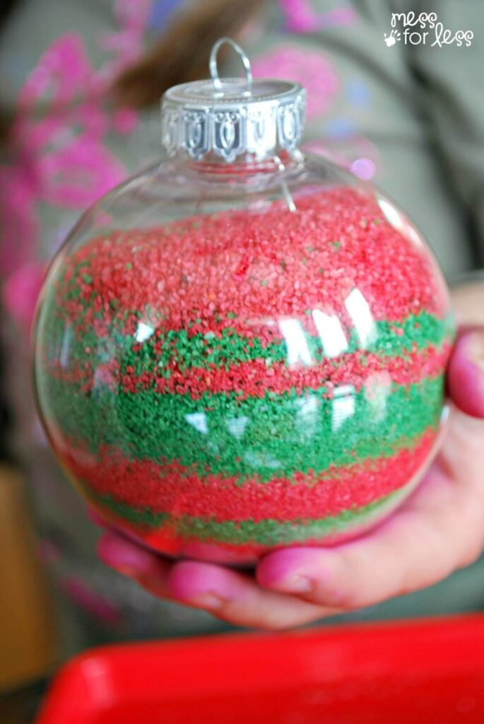 dollar store christmas crafts sand ornaments