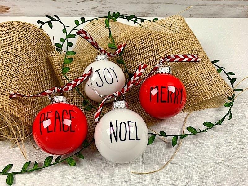 dollar tree christmas crafts farmhouse ornaments