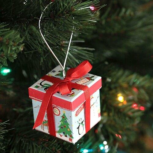 dollar tree christmas crafts gift box ornaments