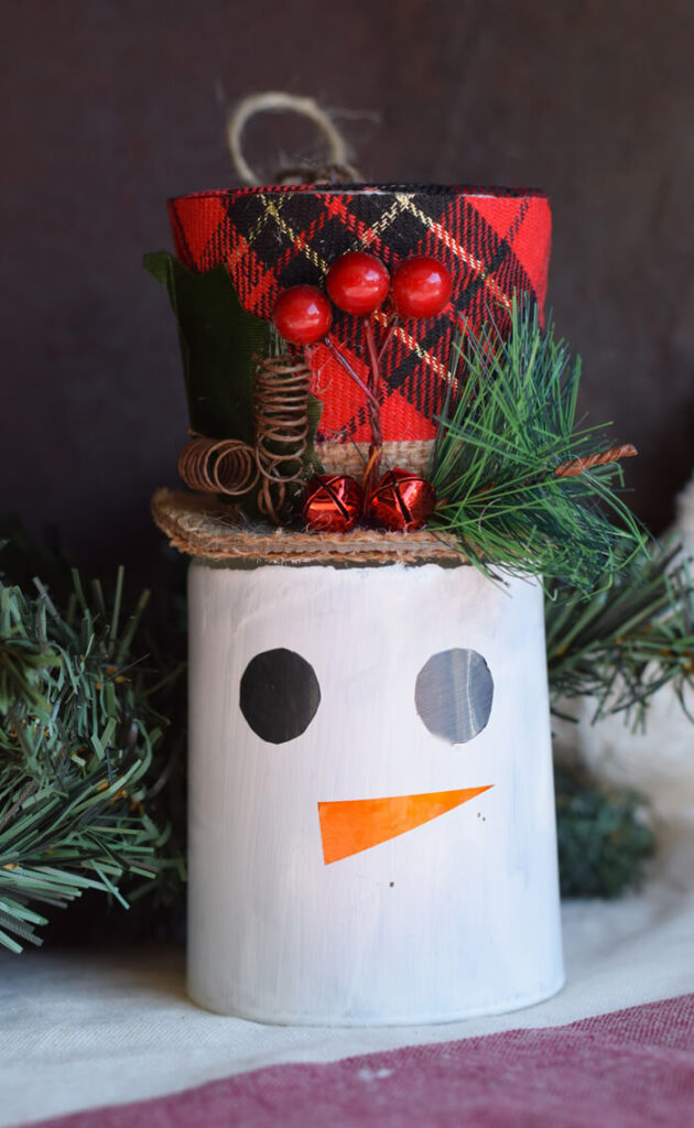 dollar tree christmas snowman craft