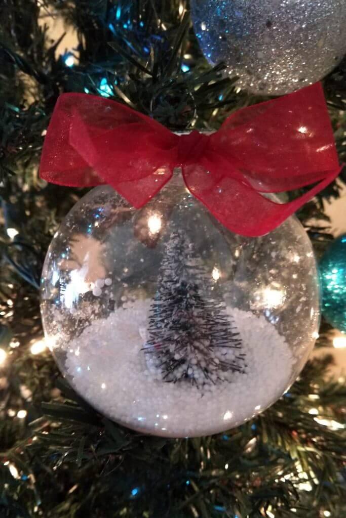 dollar tree crafts snow globe ornament