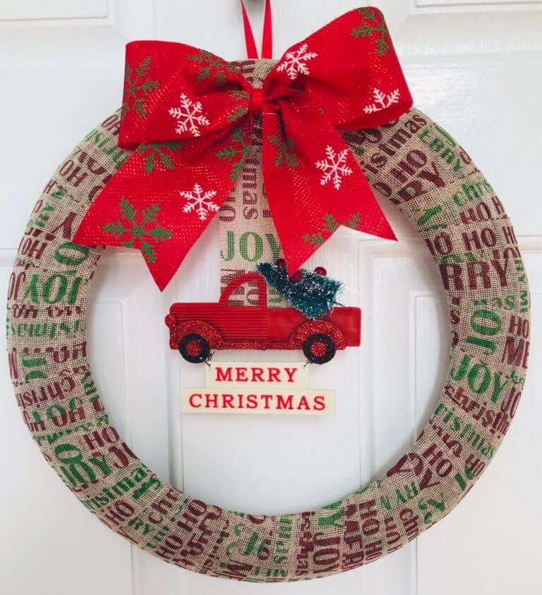 dollar tree diy christmas wreath easy