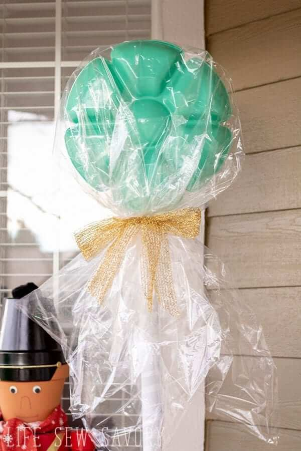 giant lollipop dollar tree christmas craft