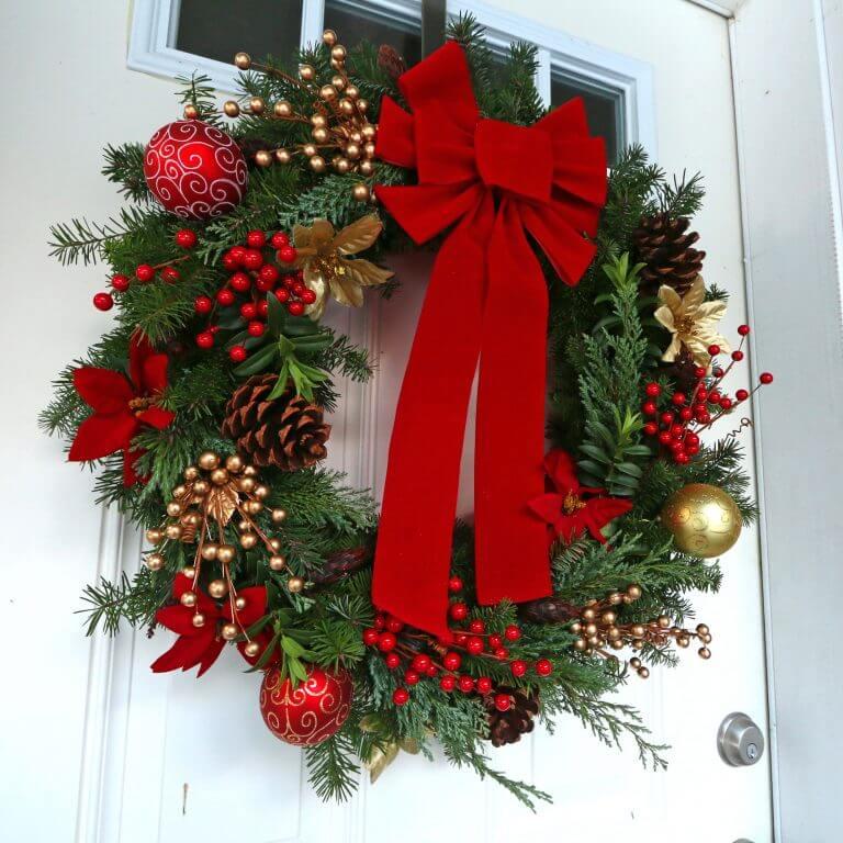 homemade christmas wreath diy dollar tree