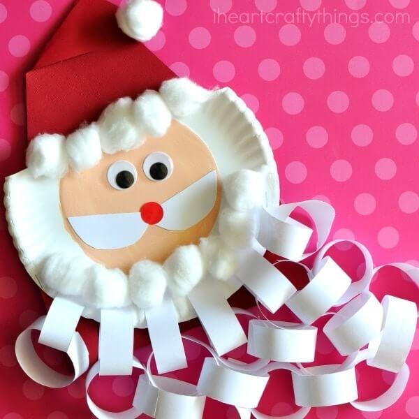 kids christmas crafts santa beard