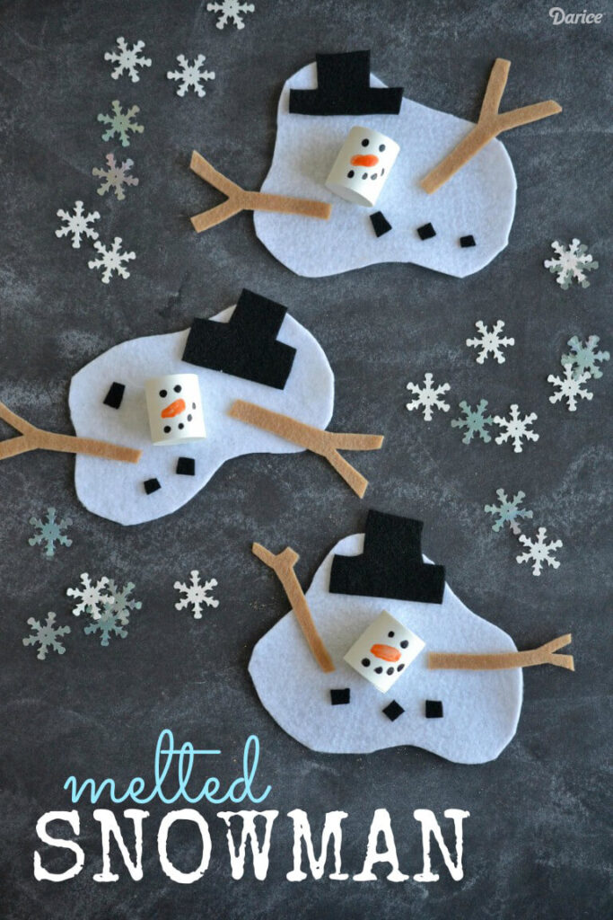 kids crafts christmas melted snowman