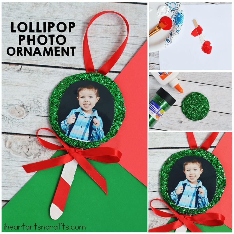 lollipop photo ornament