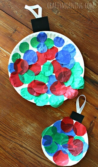 paperplate ornament crafts for kids
