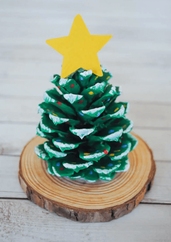pinecone tree kids craft