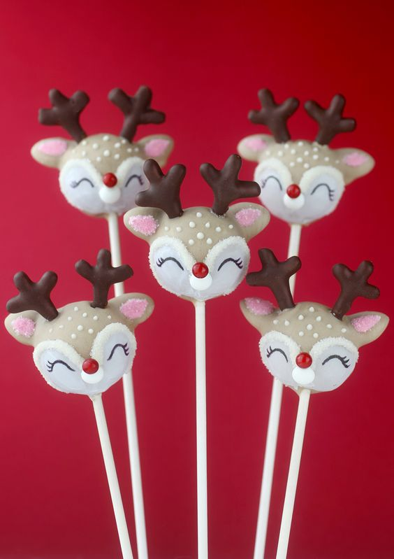 reindeer cake pops christmas