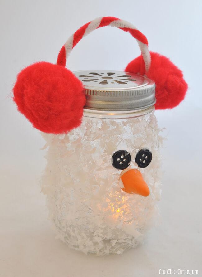 snowman mason jar christmas diy craft dollar store
