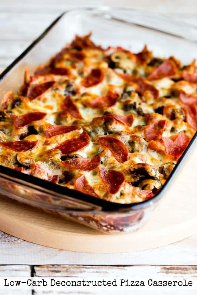 gesunder Keto-Pizza-Auflauf